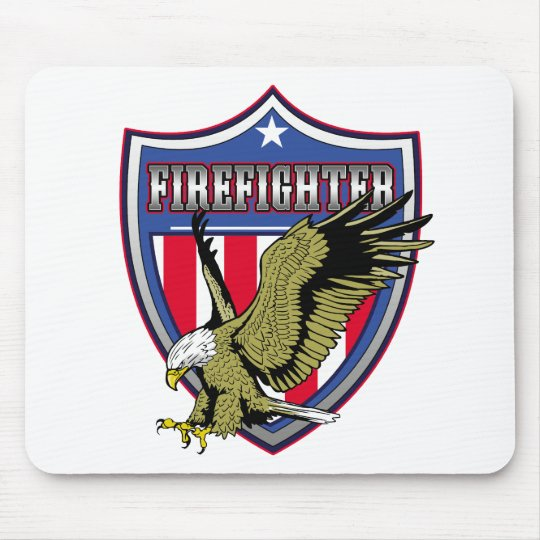 Firefighter Eagle Shield Mouse Pad