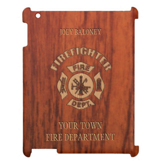 Firefighter Elegant Name Template Cover For The iPad 2 3 4