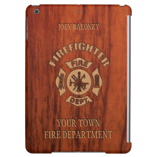 Firefighter Elegant Name Template Cover For iPad Air