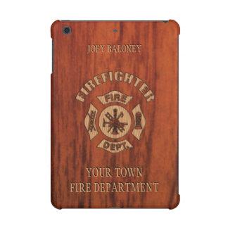 Firefighter Elegant Name Template iPad Mini Cover
