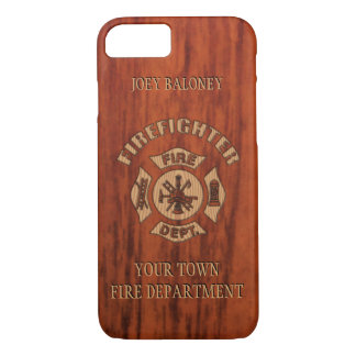 FireFighter Elegant Name Template iPhone 7 Case