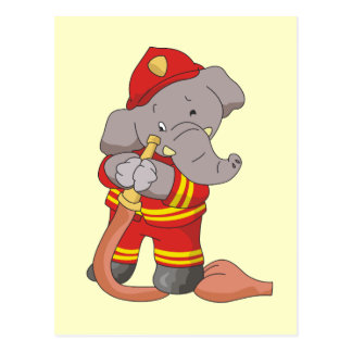 Firefighter Elephant Tshirts and Gifts Postcard