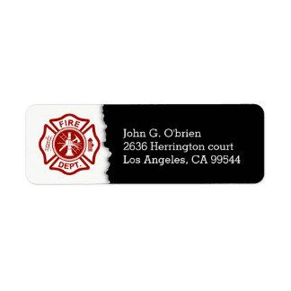 Firefighter Emblem | Return Address Label