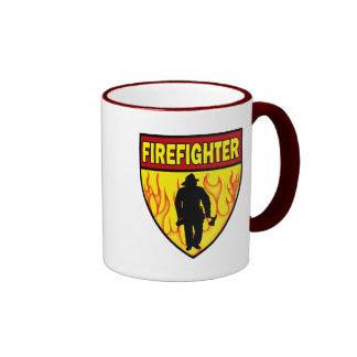 FIREFIGHTER EMBLEM RINGER COFFEE MUG
