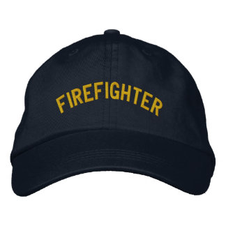 FIREFIGHTER EMBROIDERED BASEBALL CAP