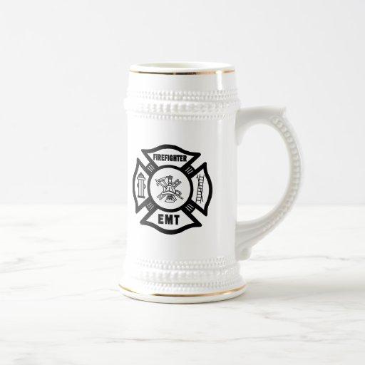 Firefighter EMT 18 Oz Beer Stein