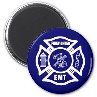 Firefighter EMT 2 Inch Round Magnet