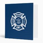 Firefighter EMT 3 Ring Binder