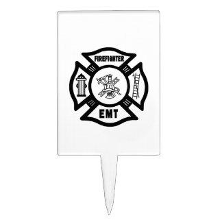 Firefighter EMT Cake Pick