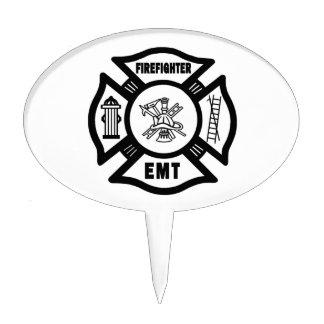Firefighter EMT Cake Topper