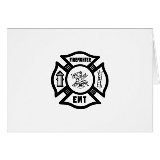 Firefighter EMT Greeting Cards