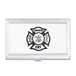 Firefighter EMT Case For Business Cards