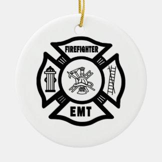 Firefighter EMT Ceramic Ornament
