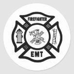 Firefighter EMT Classic Round Sticker