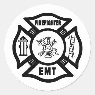 Firefighter EMT Classic Round Sticker