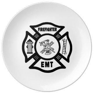Firefighter EMT Dinner Plate