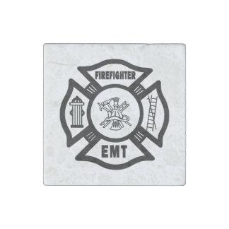 Firefighter EMT Stone Magnet