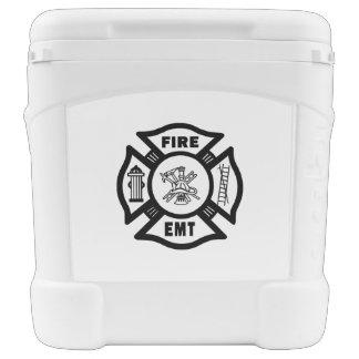 Firefighter EMT Igloo Roller Cooler