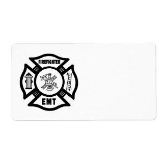 Firefighter EMT Label