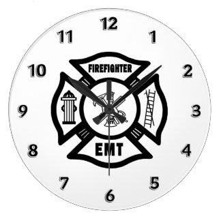 Firefighter EMT Large Clock
