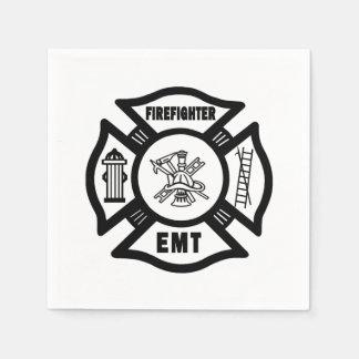 Firefighter EMT Paper Napkin