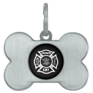 Firefighter EMT Pet ID Tag