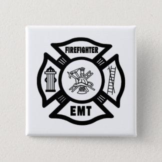 Firefighter EMT Pinback Button