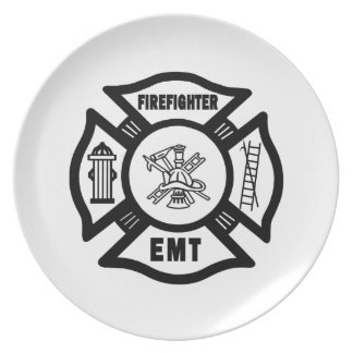 Firefighter EMT Plate