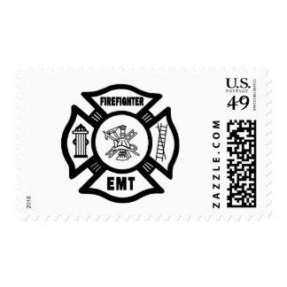 Firefighter EMT Postage Stamps