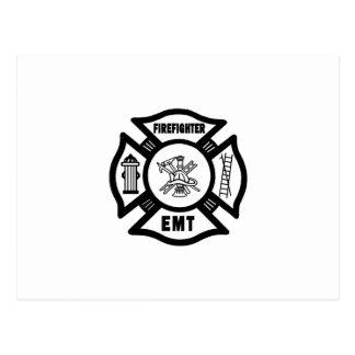 Firefighter EMT Postcard