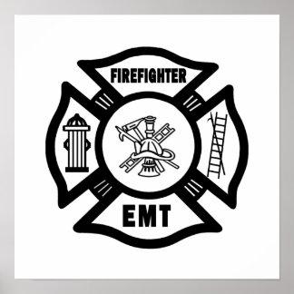 Firefighter EMT Poster