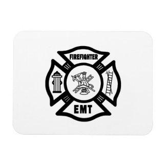 Firefighter EMT Rectangle Magnet
