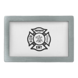 Firefighter EMT Rectangular Belt Buckle