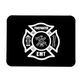 Firefighter EMT Rectangular Photo Magnet