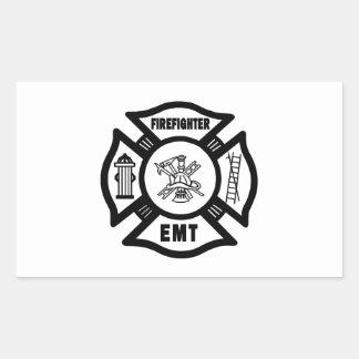 Firefighter EMT Rectangular Sticker