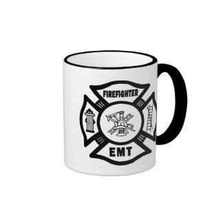Firefighter EMT Ringer Mug