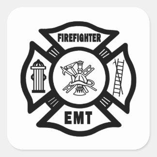 Firefighter EMT Square Sticker