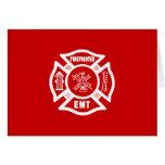 Firefighter EMT Stationery Note Card