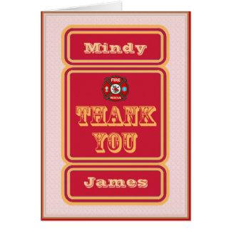 Firefighter EMT Thank You Card