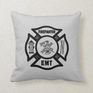 Firefighter EMT Throw Pillow