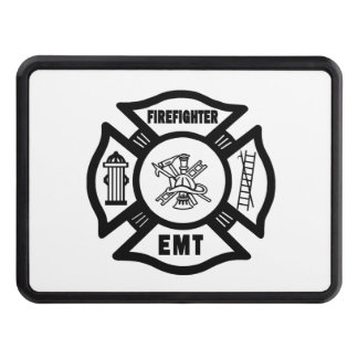 Firefighter EMT Trailer Hitch Covers