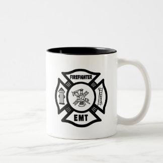 Firefighter EMT Two-Tone Coffee Mug