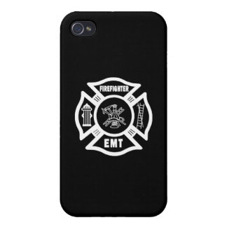 Firefighter EMT White iPhone 4/4S Cases