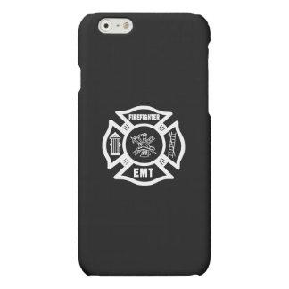 Firefighter EMT White Matte iPhone 6 Case