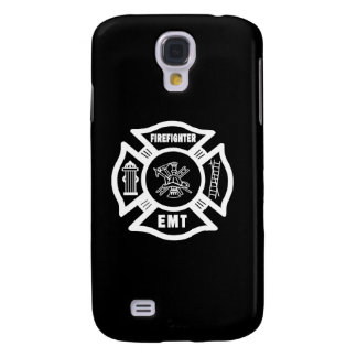 Firefighter EMT White Samsung Galaxy S4 Cases