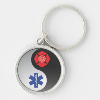 firefighter emt ying yang keychain