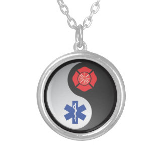 firefighter emt ying yang jewelry