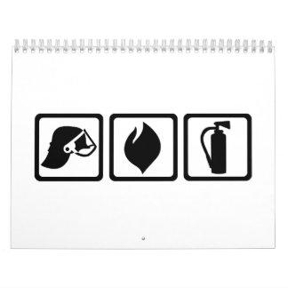 Firefighter equipment calendar