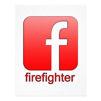 Firefighter Facebook Logo Unique Gift Template Letterhead
