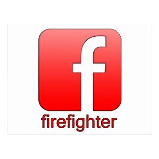 Firefighter Facebook Logo Unique Gift Template Postcard